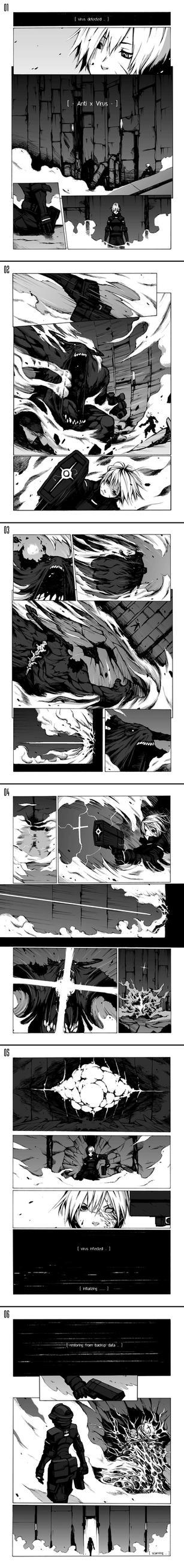 newbie comic - Antivirus by chopstickmadness