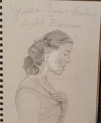 Jessica Brown-Findlay as Sybil Branson by Artistwolf16