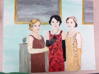 Downton Abbey Rose, Mary,  Edith by Artistwolf16