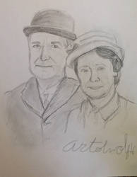 Mr. Carson and Mrs. Hughes by Artistwolf16