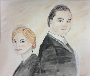 Anna and Bates... Together to the end by Artistwolf16
