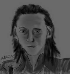 Loki headshot by Artistwolf16