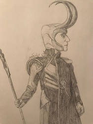 Loki sketch by Artistwolf16