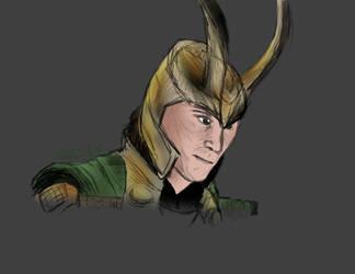 Loki sketch~ by Artistwolf16