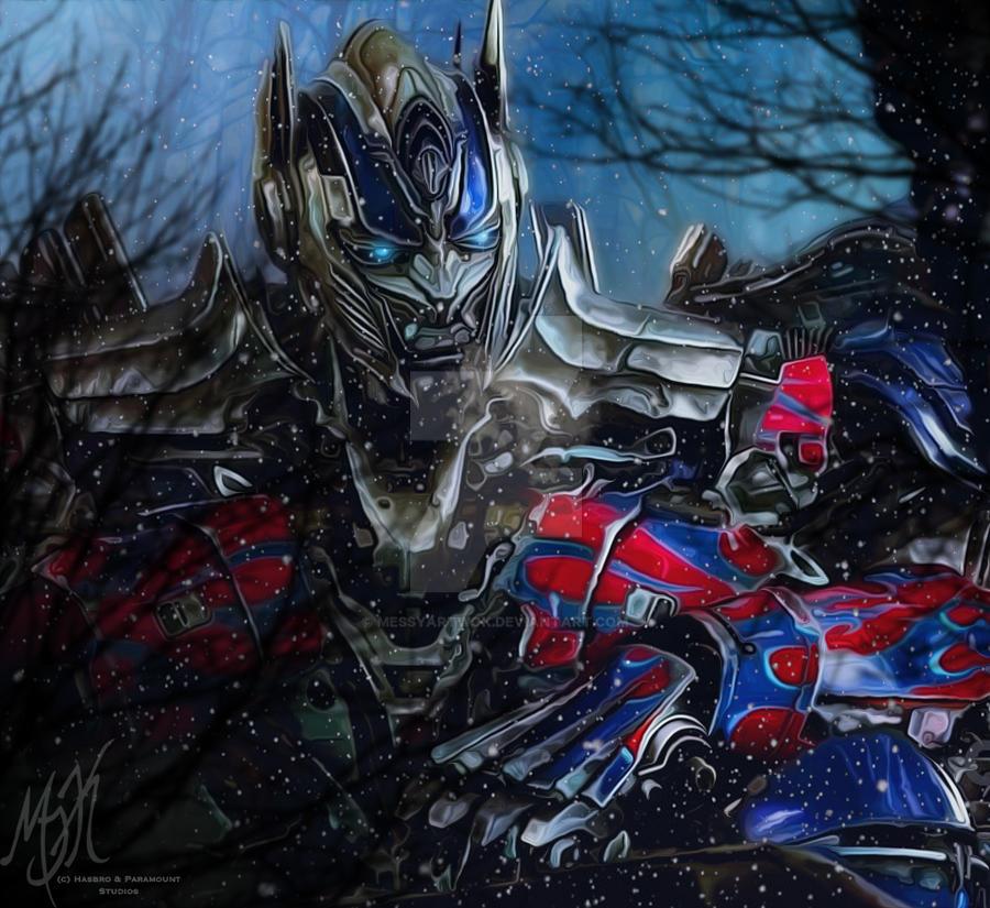 TF AOE Optimus Prime: Lonely Winter by MessyArtwok