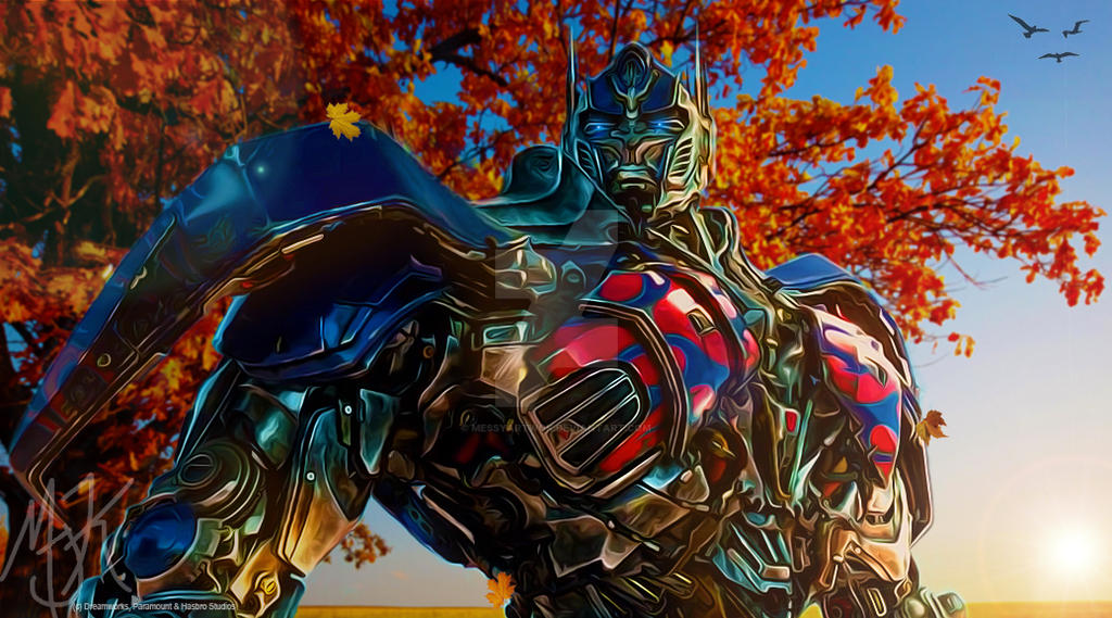 TF AOE Optimus Prime: Autumn Colors by MessyArtwok