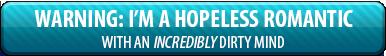 HOPELESS ROMANTIC - Button by MessyArtwok