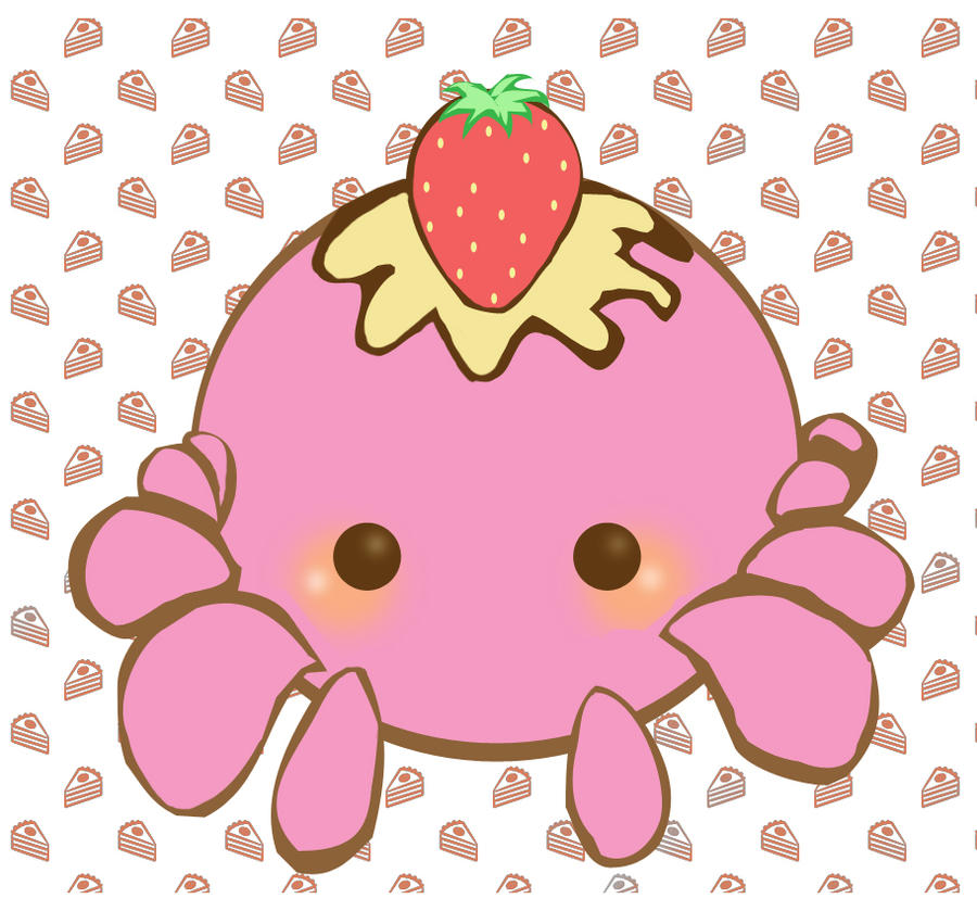 Strawberries and Cream Octopus by Minty-Kitty-Art