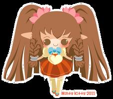 Berri-Blossom chibi for cake by Minty-Kitty-Art