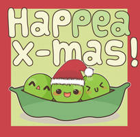 Happea Christmas card by Minty-Kitty-Art