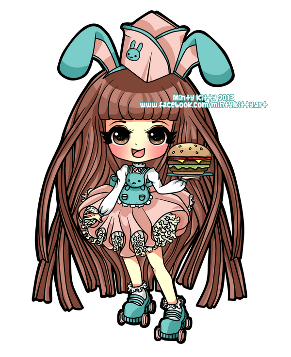 Burger Bunny Commission by Minty-Kitty-Art