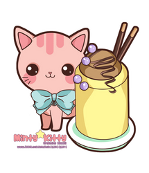 Pinky Pudding Kitty by Minty-Kitty-Art