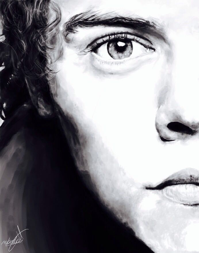Line Drawing Styles : Harry styles gq by bmoni on deviantart