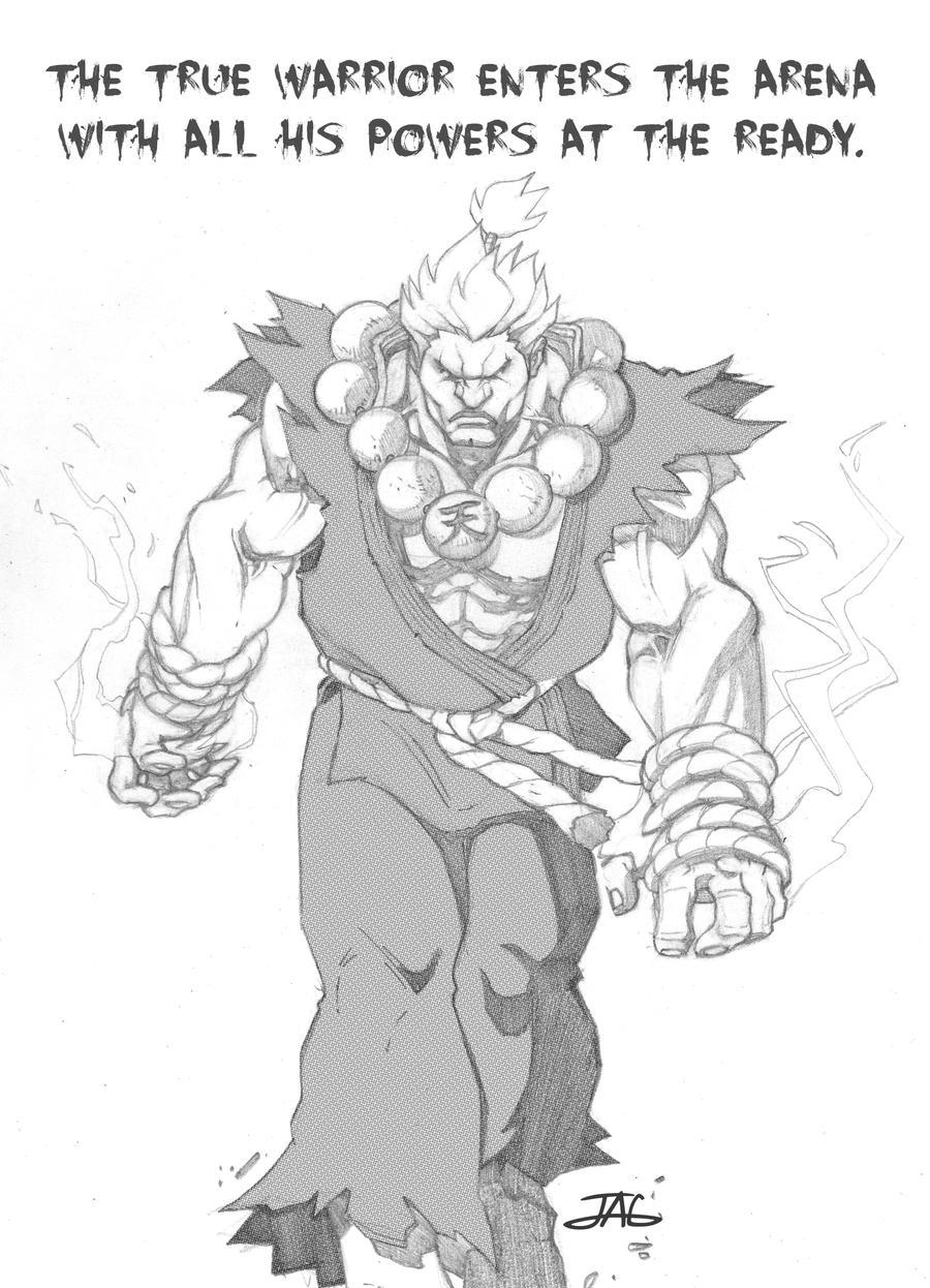 The Raging Demon Akuma by JAG-Comics