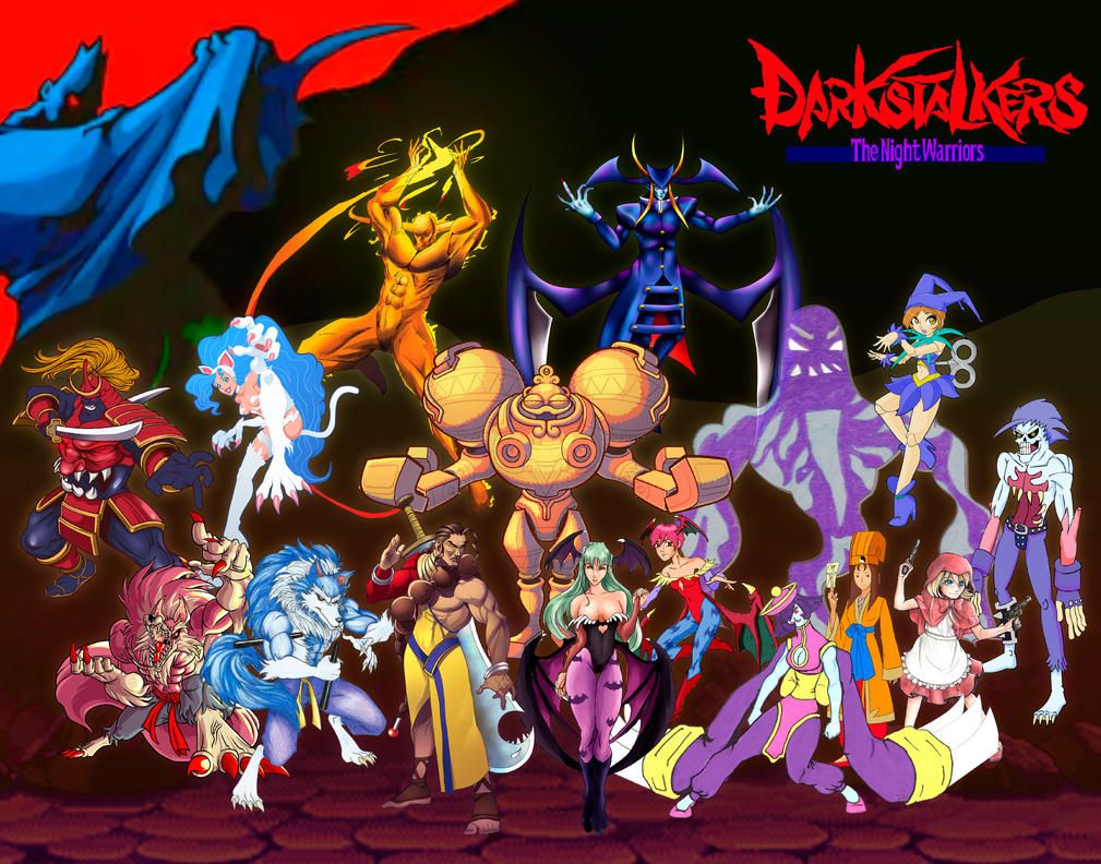 Darkstalkers Poster Collab by JAG-Comics
