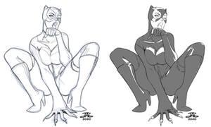Sketch Catwoman / Gatubela