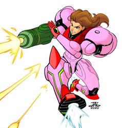 Samus Nes Armor Pink