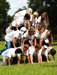 Human Pyramid by colombianrebel