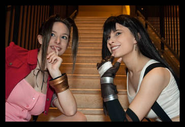 Tifa and Aerith: Something that Shimmers by Ochibasan