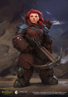 Pathfinder Kingmaker Dwarf Female Archer