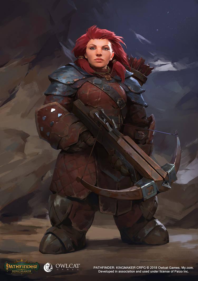 Pathfinder Kingmaker Dwarf Female Archer by VyacheslavSafronov