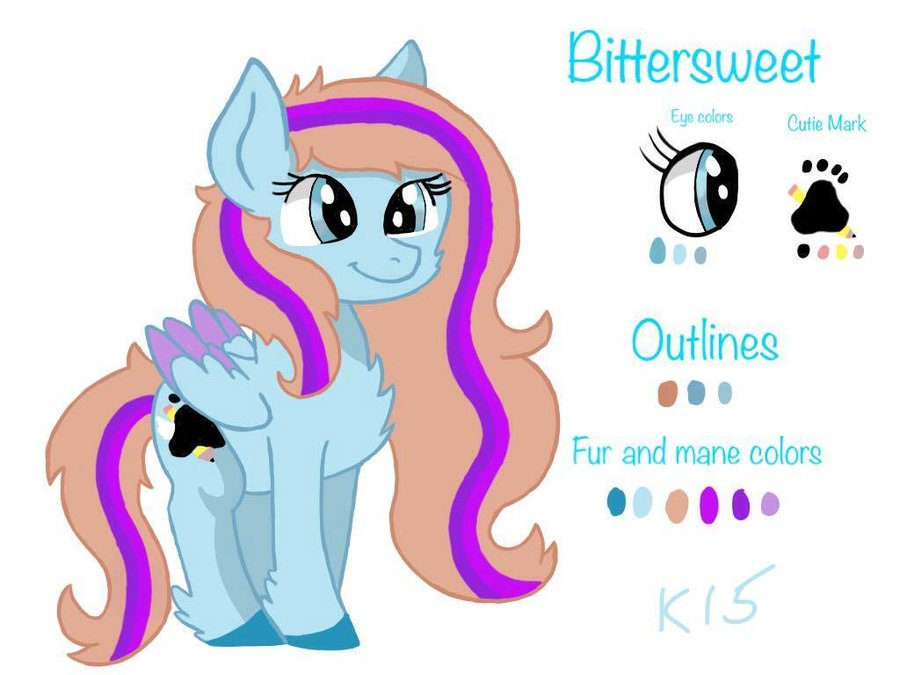 Bittersweet Ref Sheet and Bio by Chewy-Tartz