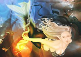 mermaid by beebeerai