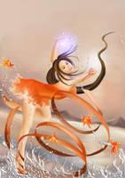 fantasy ribbon girl by beebeerai