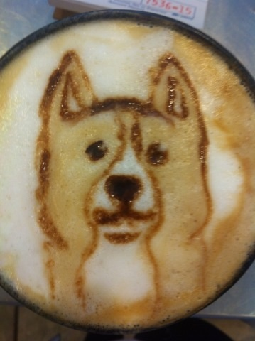 Corgi Latte by Coffee-Katie