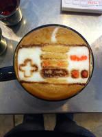 Nintendo NES Controller Latte by Coffee-Katie