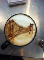 Golden Gate Bridge Latte by Coffee-Katie