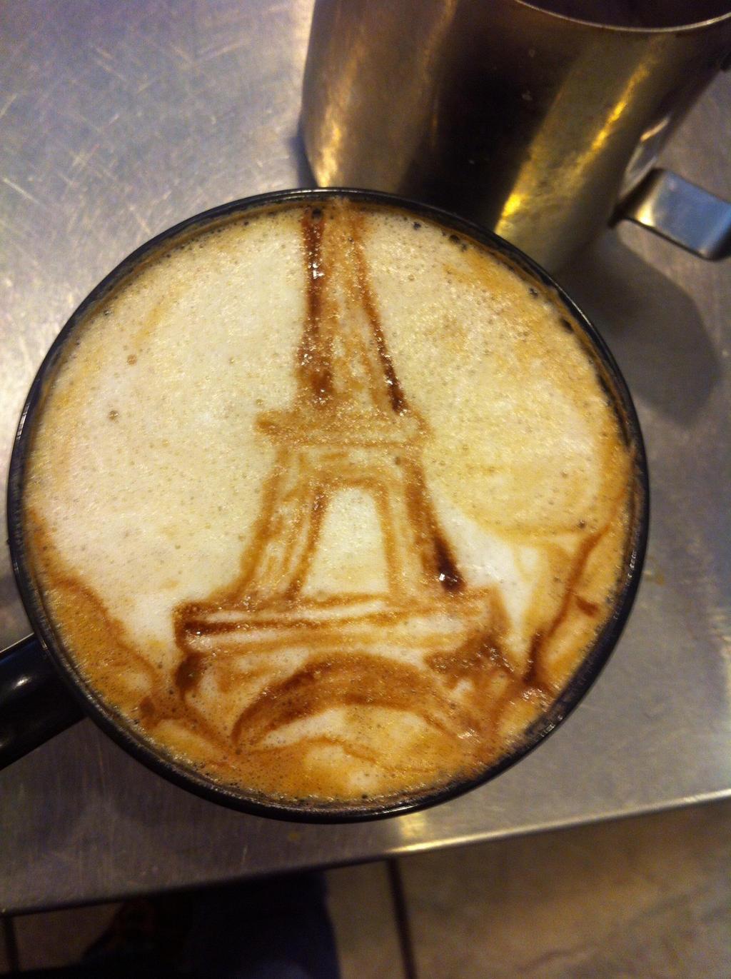 Eiffel Tower Latte by Coffee-Katie