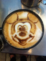 Mickey Mouse Latte by Coffee-Katie