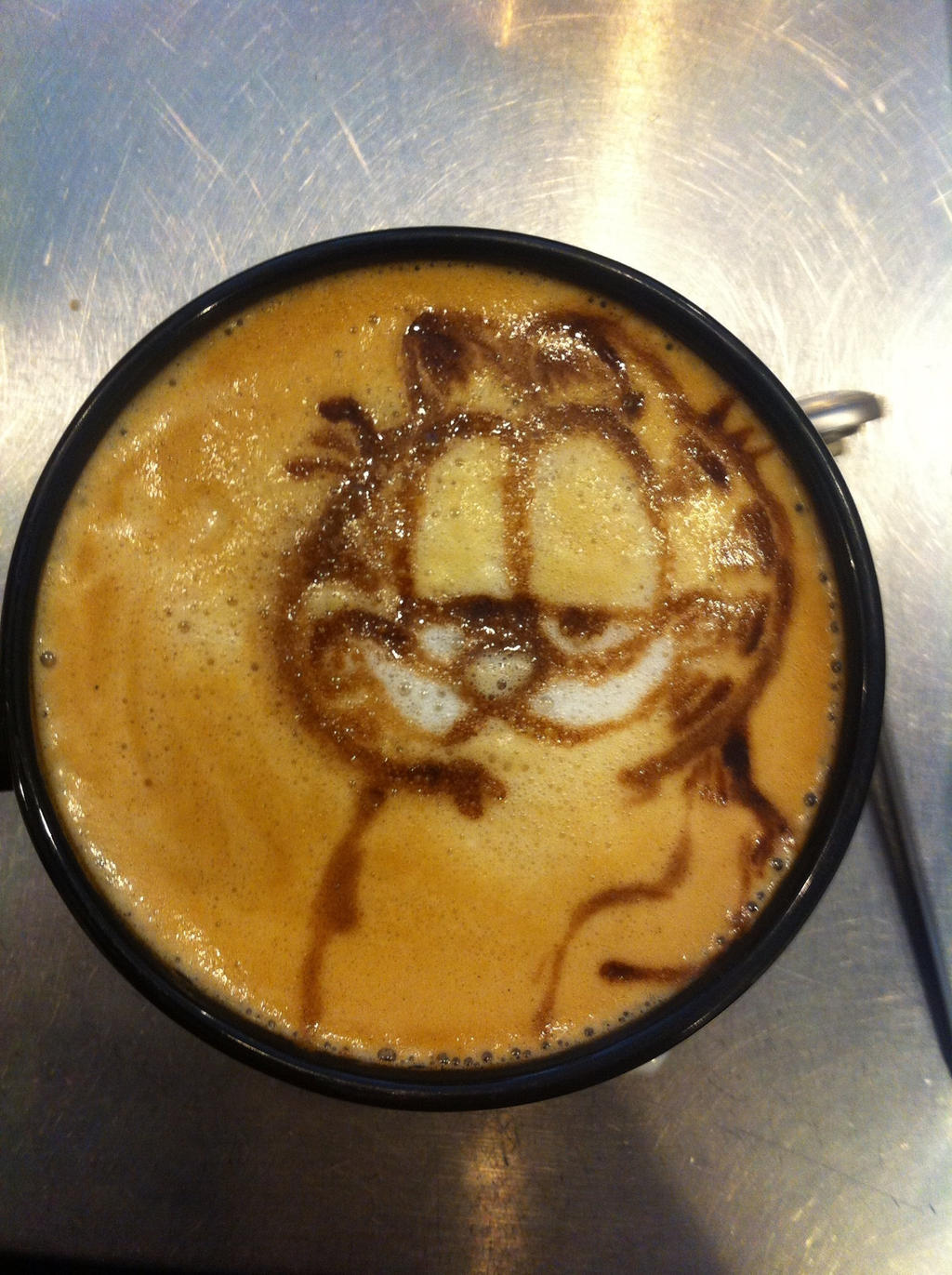 Garfield Latte by Coffee-Katie