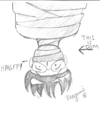 Dom.... upside down. weeeeeeee by Megumiinelite