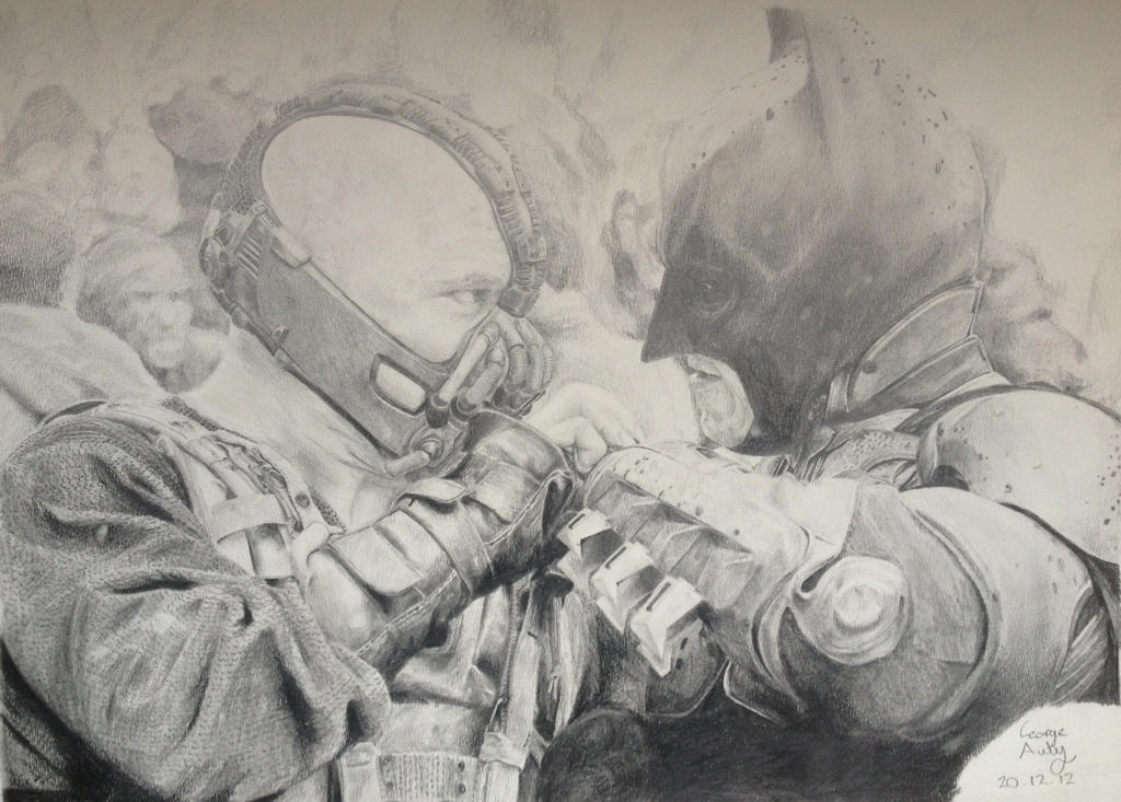 Bane and Batman Drawing by ZoboZodiacArt on DeviantArt