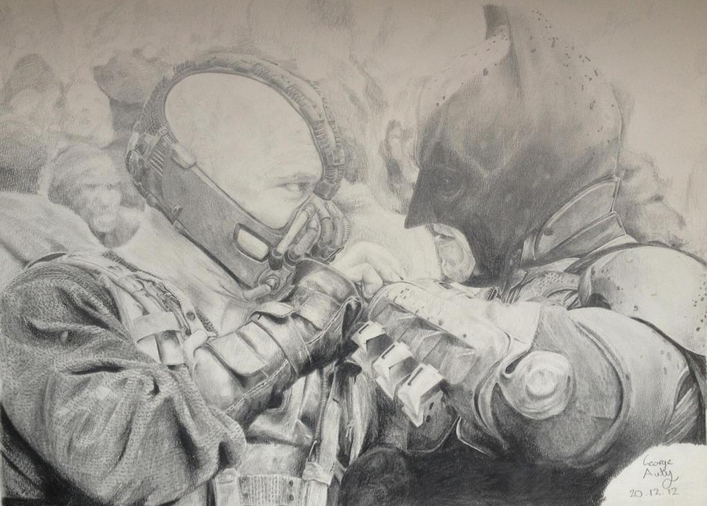 Bane and Batman Drawing by ZoboZodiacArt on DeviantArt
