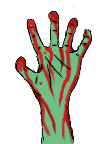 zombie hands left - photo #8