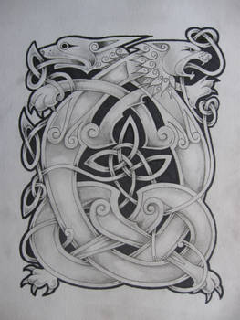 celtic lion and dragon2
