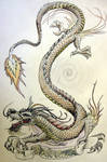 Dragon and scroll
