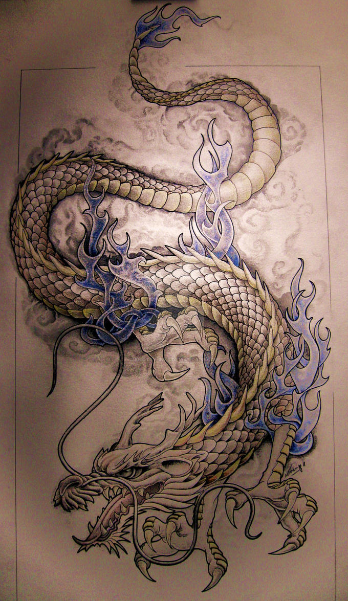 dragon by knotty inks on deviantart. Black Bedroom Furniture Sets. Home Design Ideas