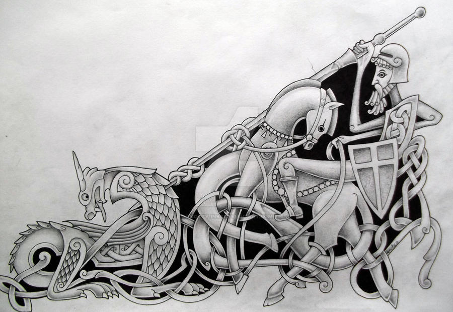 St george and the dragon by knotty inks on deviantart for Tattoo shops in st george
