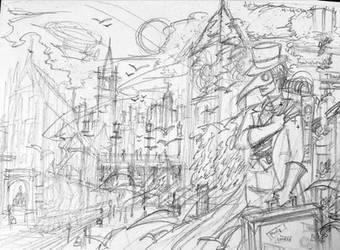 Steampunk City by SwedenLena