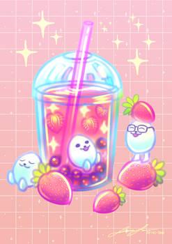 Eggdog - Boba Tea Strawberry