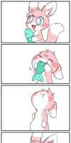Sakura eating a big fish