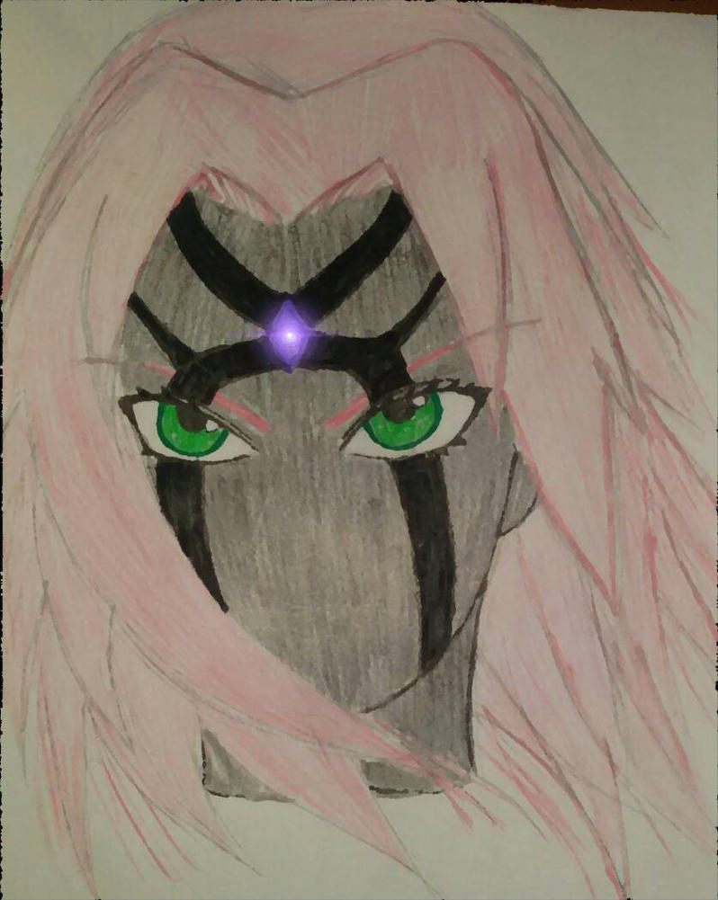 My old drawing of Sakura by RaDiOaCtIvE27