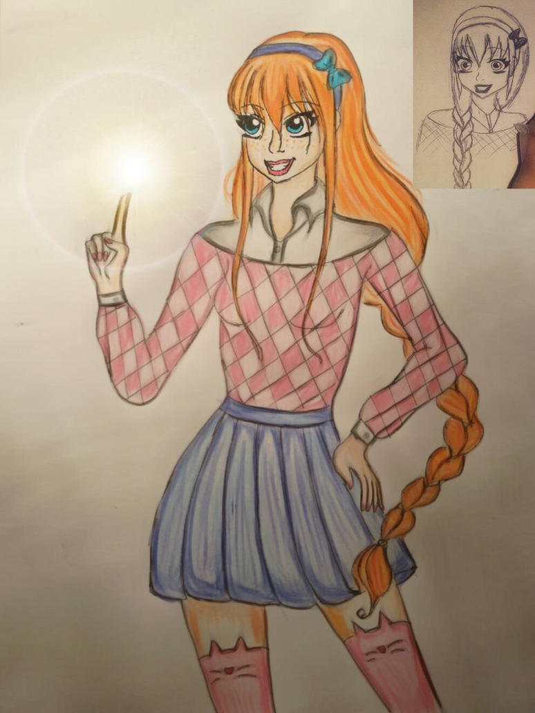 redraw of magic girl by RaDiOaCtIvE27