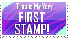 My Very First Stamp by HawtayanPunk