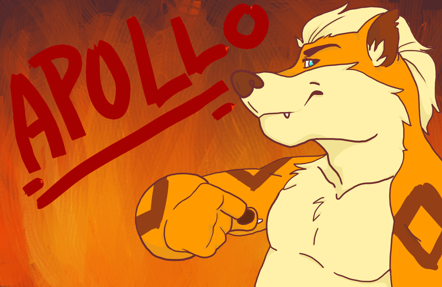 Apollo the Growlithe by HawtayanPunk
