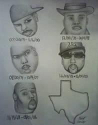 R.I.P. DJ Screw, Fat Pat, Big Moe, Pimp C,  H by Ernest94